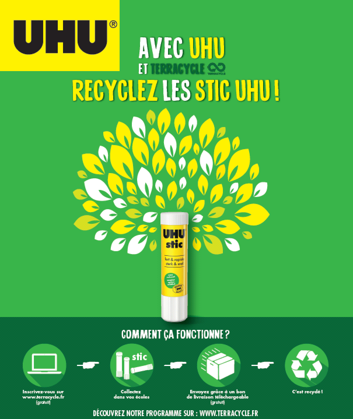 TerraCycle recycle les tubes de colle UHU