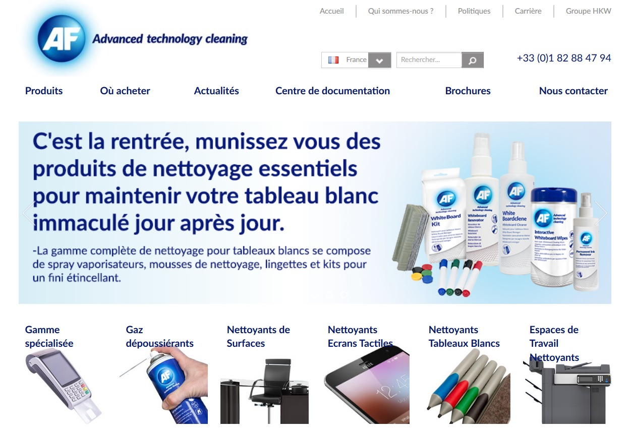 AF International lance son nouveau site en français