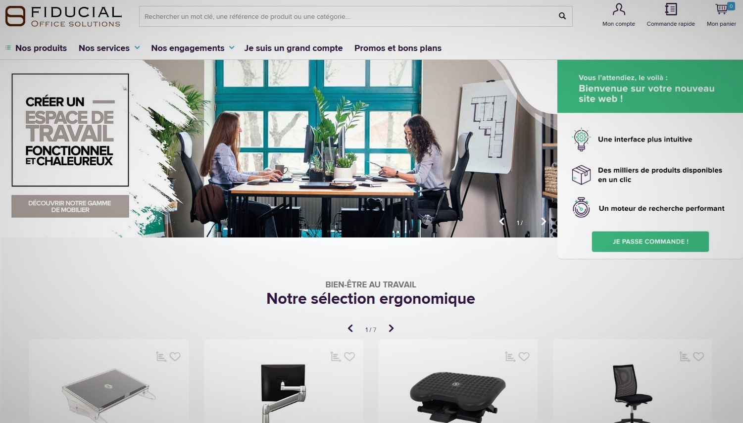 Un nouveau site web pour Fiducial Office Solutions